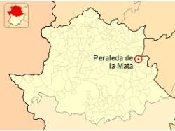 Localización de Peraleda de la Mata