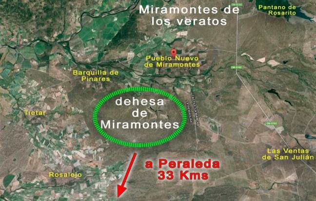 Localización Dehesa de Miramontes