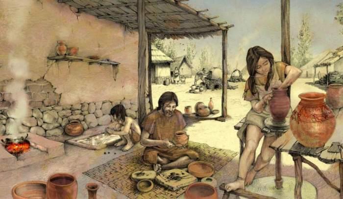 recreación de la vida cotidiana en un poblado carpetano.jpg