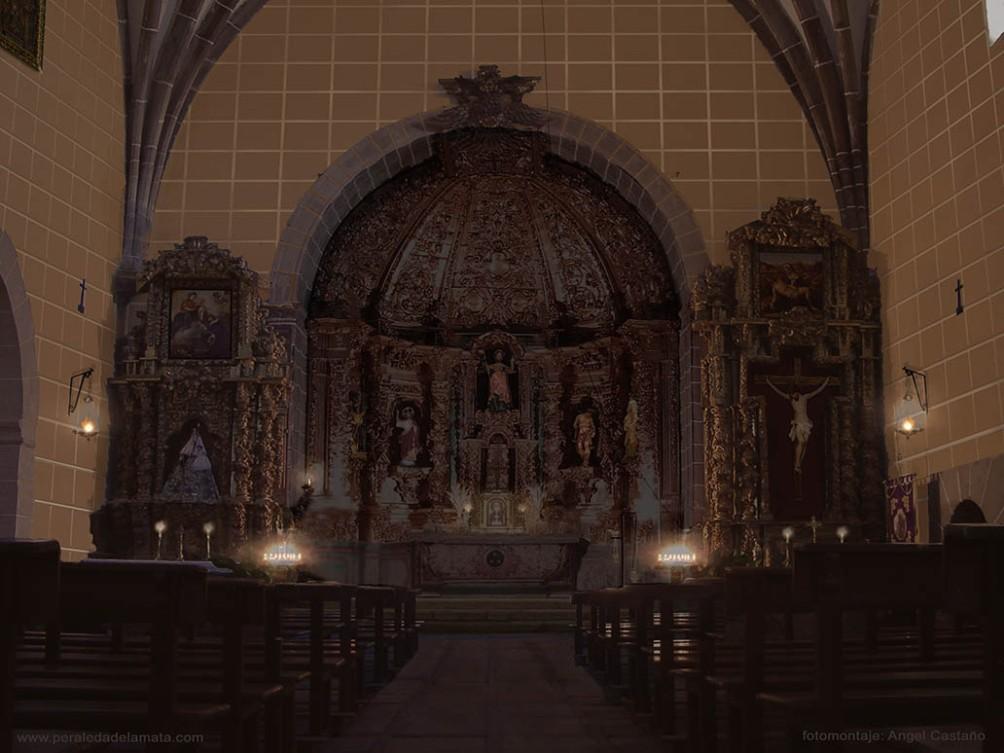 Iglesia de Peraleda antes de la Guerra