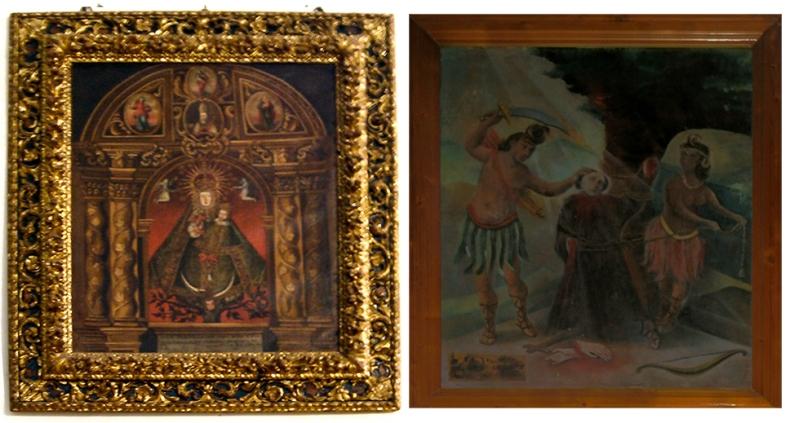 Nª Sª de Quintanares y El Martirio de Fray León, únicos cuadros que se salvaron de la destrucción