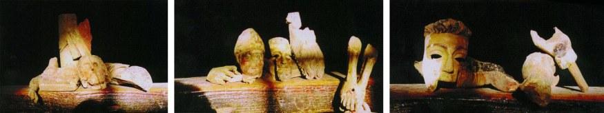 Trozos de las imágenes primitivas conservados en un arcón hasta finales del s. XX