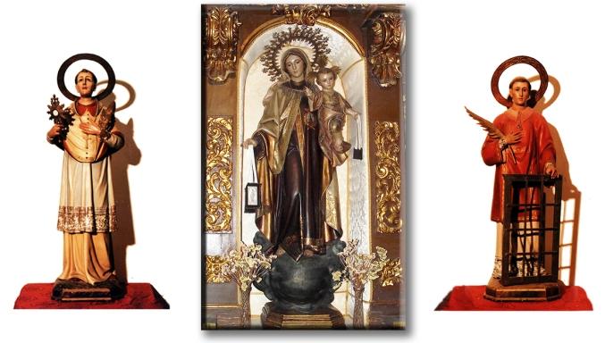 Imágenes altar del Carmen