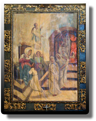 Psicostasis con la Virgen María