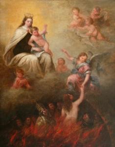 Virgen del Carmen y purgatorio