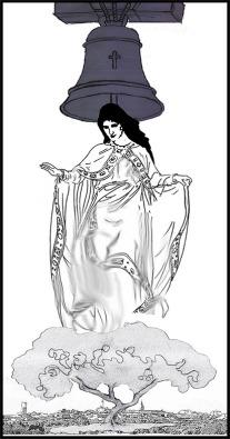 boceto para Virgen de la Campana de la Mata - Angel Castaño - Peraleda de la Mata