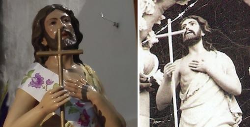 El Resucitado después y antes de la restauración