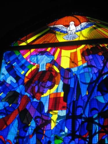 Vidriera del Bautismo de Jesús - Angel Castaño - Peraleda de la Mata
