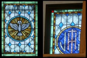 Vidrieras de la capilla de la iglesia de Peraleda