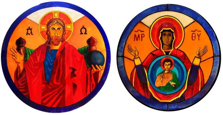 Vidrieras del Coro - iglesia de Peraleda de la Mata - Angel Castaño