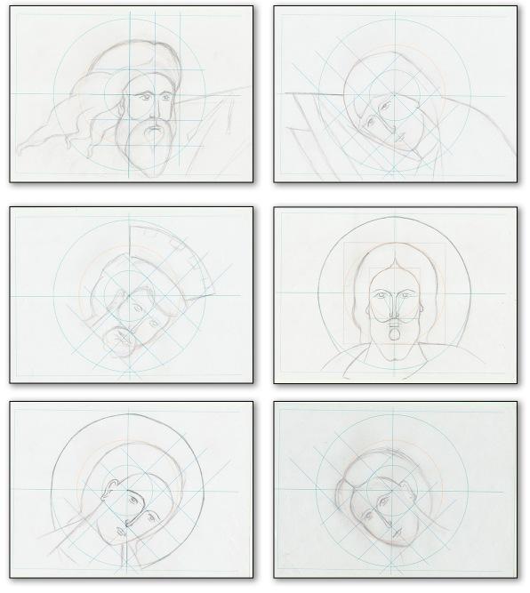 Bocetos bizantinos para Anastasis. Por Angel Castaño