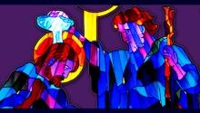 Vidriera del Bautismo de Cristo en Peraleda de la Mata