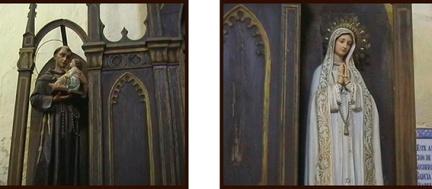 Laterales del antiguo retablo del Perpetuo Socorro - Peraleda de la Mata