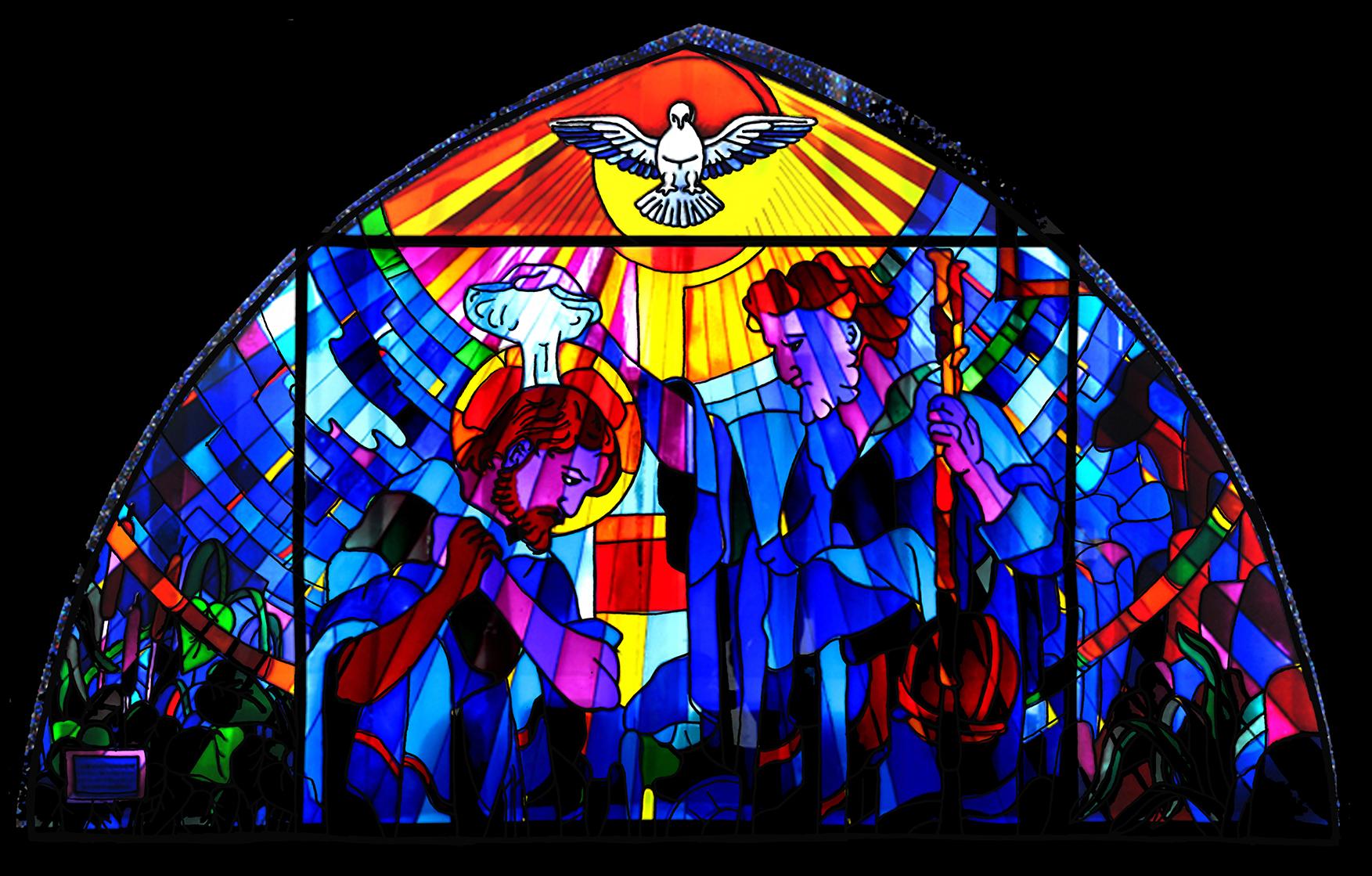 Iconografía 6: Vidriera del Bautismo de Cristo | Peraleda ...