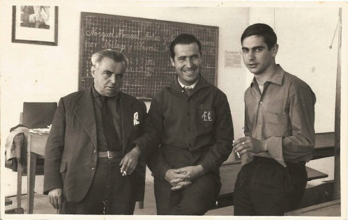 D Blas, papa y D Vidal - abril 1965