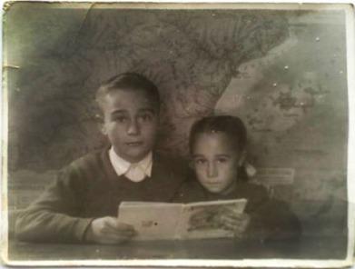 Los hermanos Marcial y M°Nieves Fraile Rodrigo - años 50