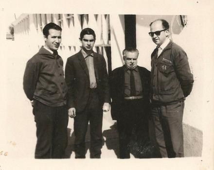 Papa, D Vidal, D Blás, D Santos - abril 1965