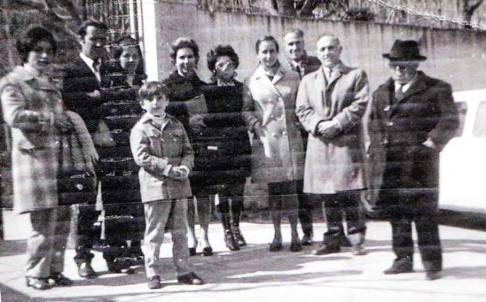 papa mama Javi Dª Carmen y marido D Antonio D Blas DªPaquita Dª Pepita y Dª Olga en Toledo - 1968