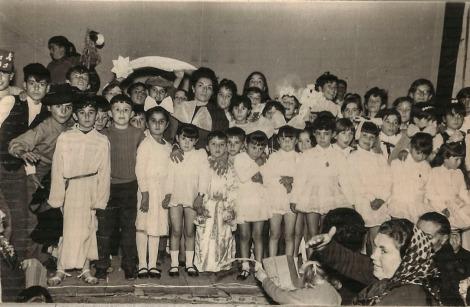 Representación navideña colegio - 1969