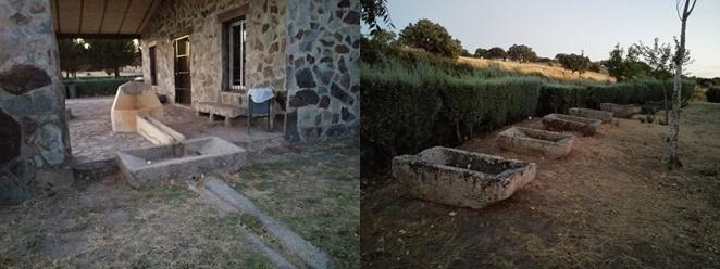 Aspecto actual de la fuente y las pilas de lavar de La Bomba