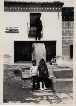 El pilón que había en la Calle Peligros